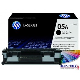 toner HP CE505A, černý, originál