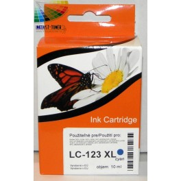 cartridge Brother LC-125, LC-123 XL modrá kompatibilní