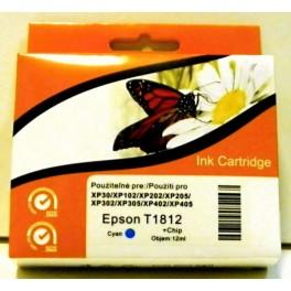 cartridge EPSON T1812 XL modrá - kompatibilní, 12 ml