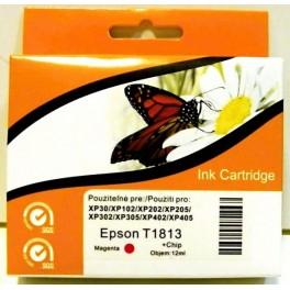 cartridge EPSON T1813 XL červená - kompatibilní, 12 ml