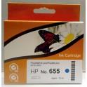 HP 655 (CZ110AE) cartridge modrá - kompatibilní, čip