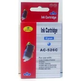 Canon CLI-526C cartridge modrá - kompatibilní (AB)