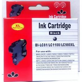 cartridge LC-1100BK / LC-980BK černá pro Brother - kompatibilní