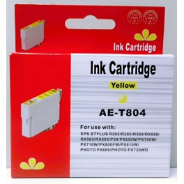 Cartridge Epson T0804 žlutá Pigment - kompatibilní