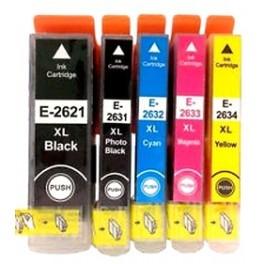 sada kazet T2621-2634 (26XL) pro Epson - 2 černá + 3 barvy - AKCE