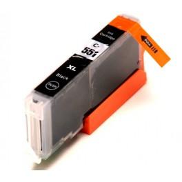 Canon CLI-551XL BK cartridge foto černá - kompatibilní, čip