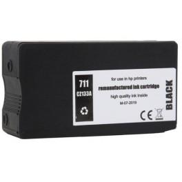 HP 711 (CZ133A) černá kompatibilní, 80 ml